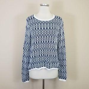 Ann Taylor Loft Linen Sweater High Low Hem